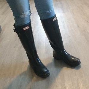 Hunter tall boots, black size 9